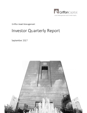 Investor Quarterly Report – September 2017