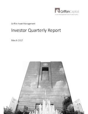 Investor Quarterly Report – March 2017