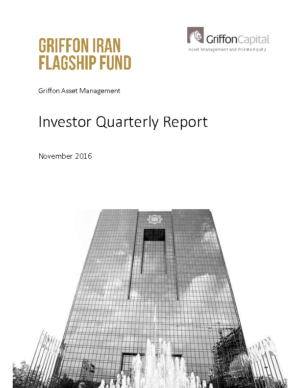 Investor Quarterly Report – November 2016